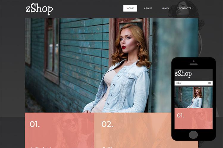 zShop – Free Responsive Html5 Template
