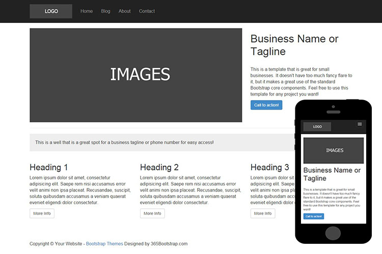 009 free basic bootstrap theme zerotheme for Html5 wireframe template