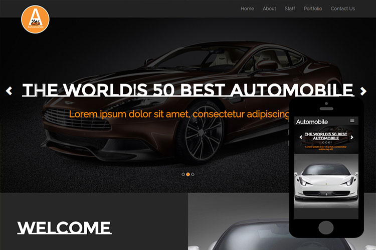 zAutomobile – Free Bootstrap Theme