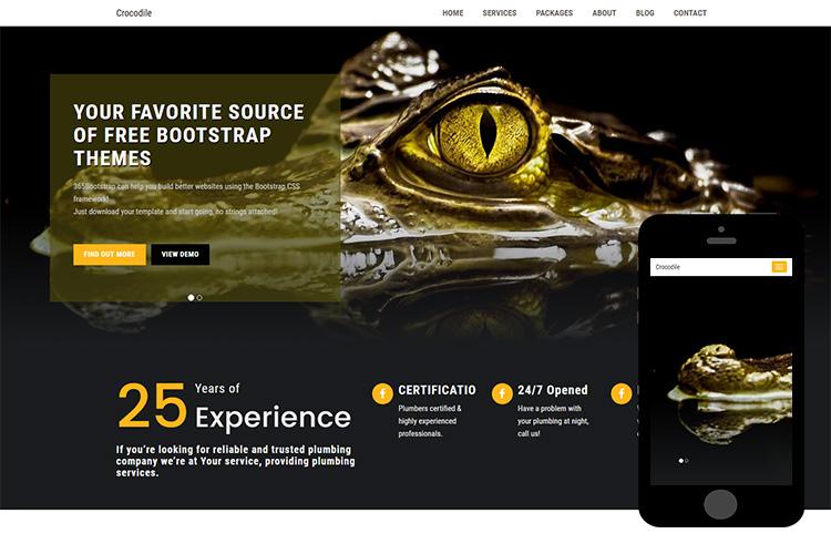 zCrocodile-Free-Bootstrap-Theme