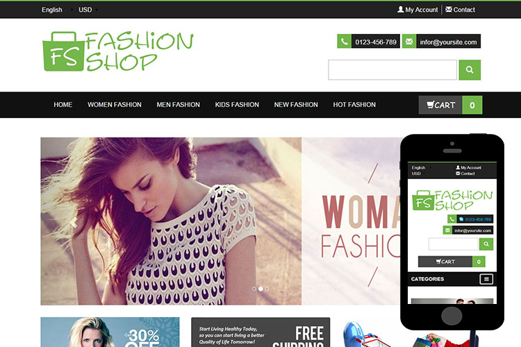 zFashionShop – Free Bootstrap Theme