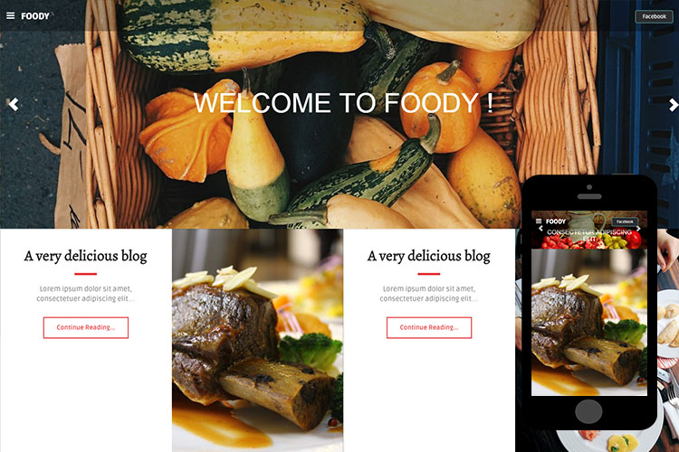 zFoody – Free Bootstrap Theme