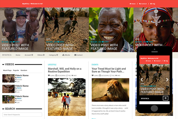 zMyAfrica – Free Bootstrap Theme