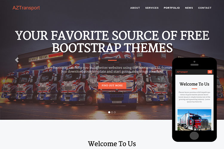zTransport – Free Bootstrap Theme