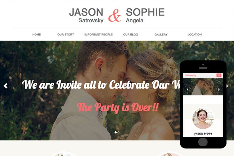 zWeddingDay – Free Bootstrap Theme