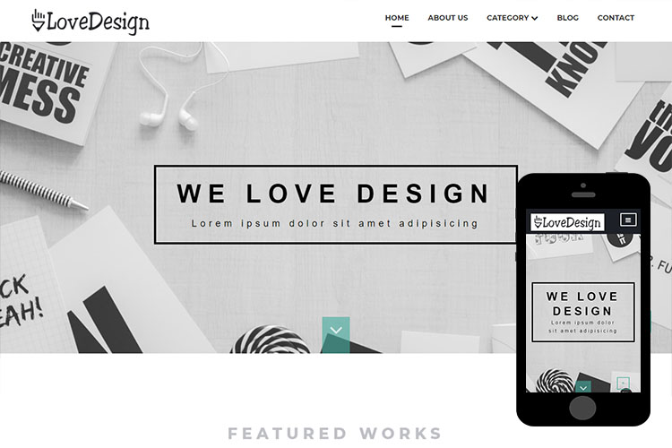 zLoveDesign Free Bootstrap Template