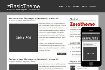 zBasicB001 Free Html5 Website Template