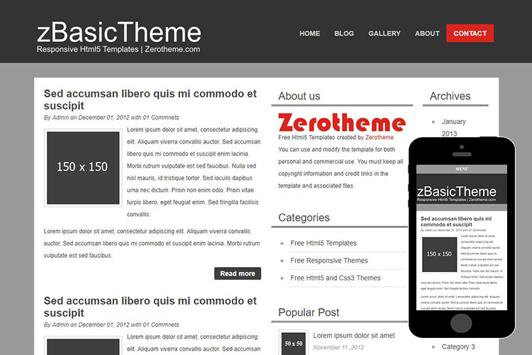 zBasicB003 Free Html5 Website Template