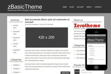 zBasicB004 Free Html5 Website Template