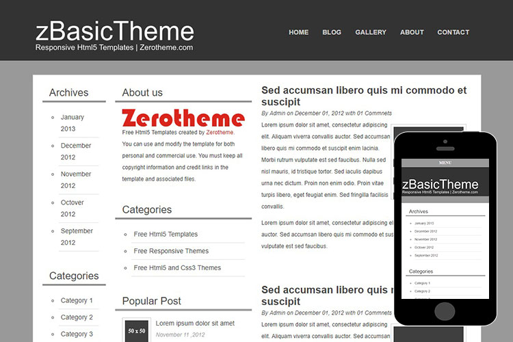 zBasicB005 Free Html5 Website Template