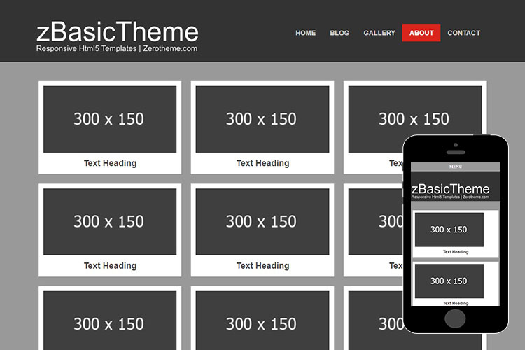 zBasicG001 Free Html5 Website Template