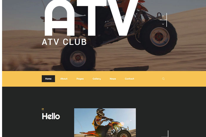 ATV Club - Bootstrap Themes