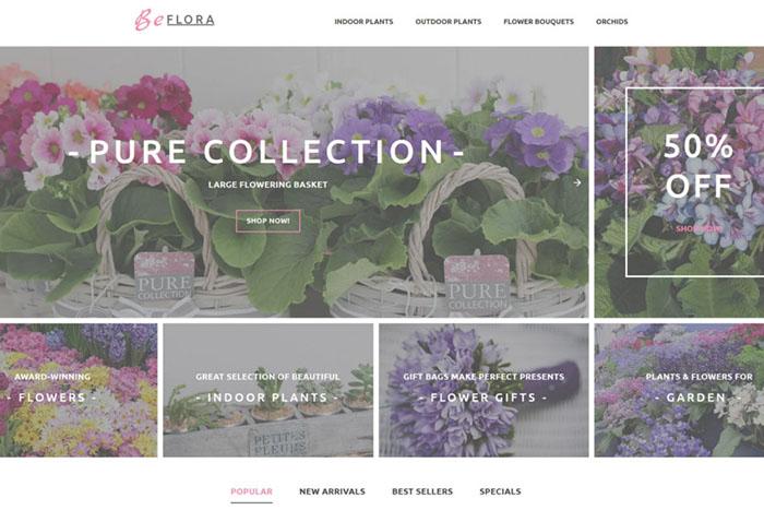 BeFlora - Flower Bootstrap Templates