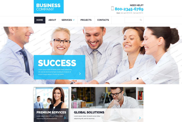 Free Business Theme with Bootstrap