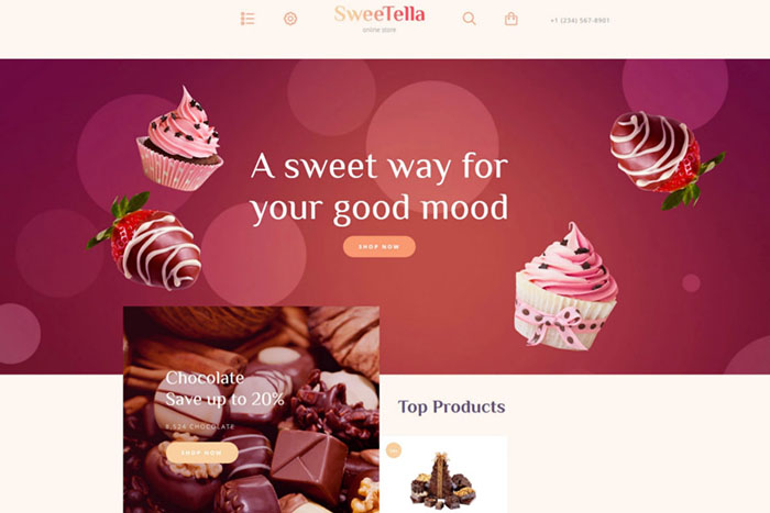 SweeTella Store - free bootstap template