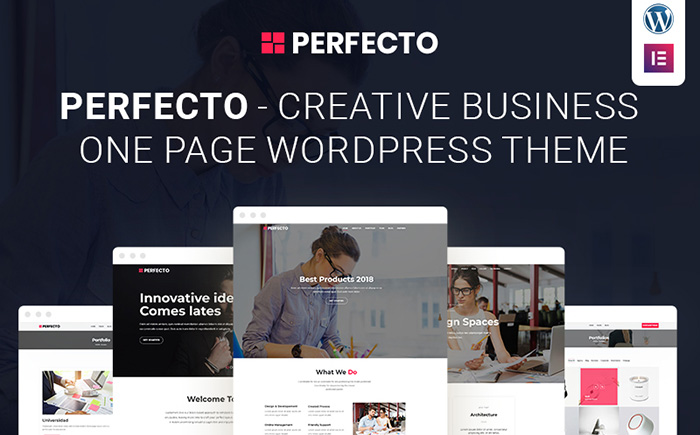 Perfecto - Business One Page WordPress Theme