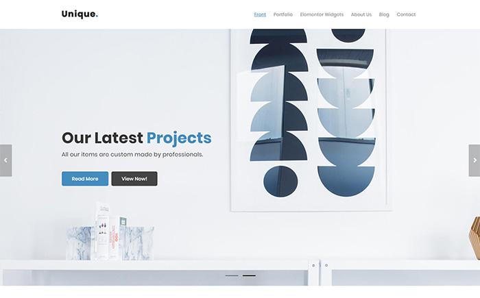 Unique Decor - Interior Design WordPress Theme