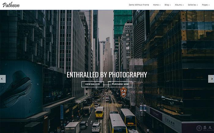 Patheon - Photography WordPress Theme