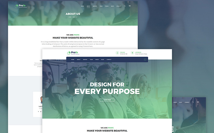 Profe - corporate WordPress Theme