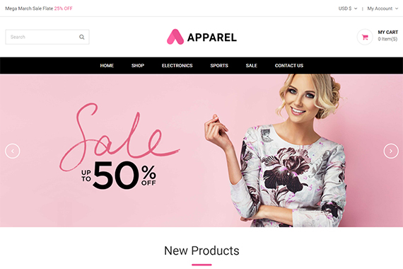 Apparel prestashop template