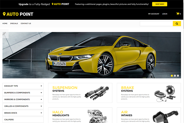 Auto Point - Auto Parts eCommerce Clean OpenCart Template