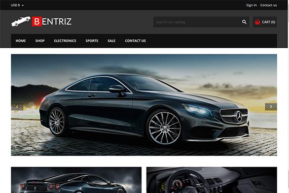 Bentriz Free Auto Prestashop Template