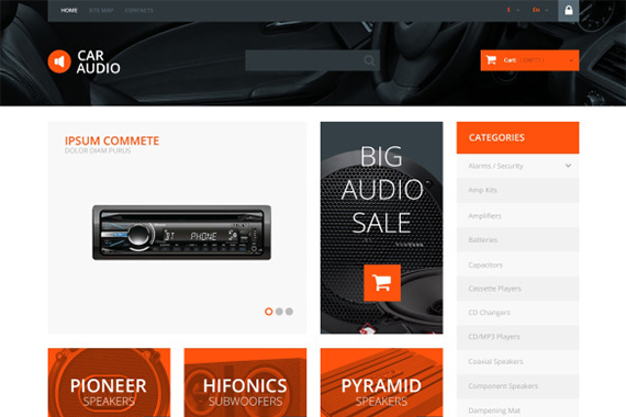 Car Audio Free Prestashop Template