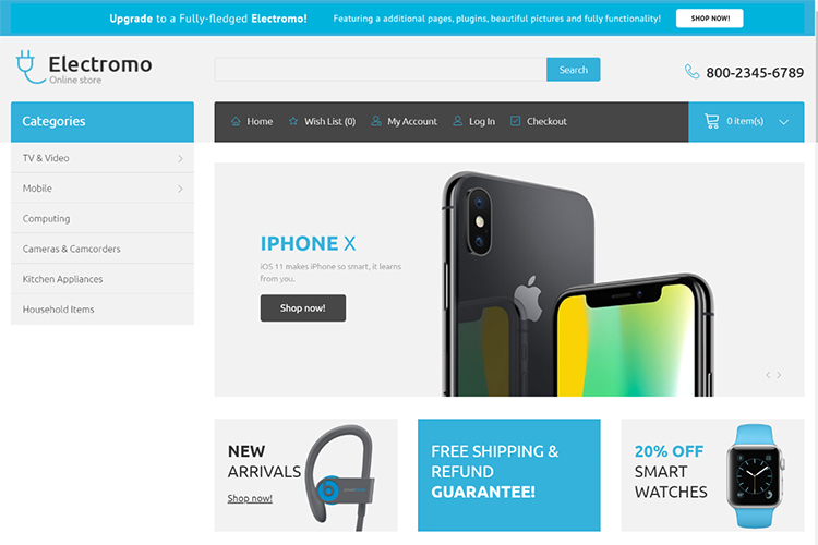 Electromo - Electronics Store eCommerce Clean OpenCart Template