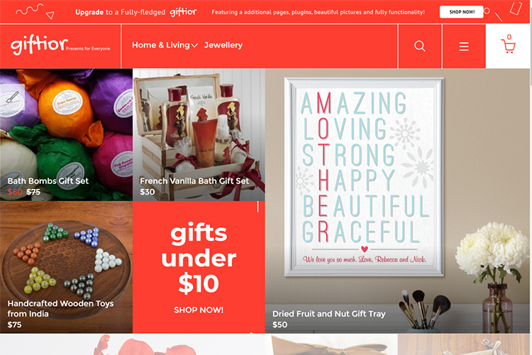 Giftior - Gifts Store Multipage Creative Free OpenCart Template