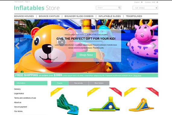 Inflatables Free Prestashop Template