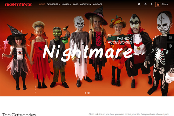 Leo NightMare Free Prestashop Themes