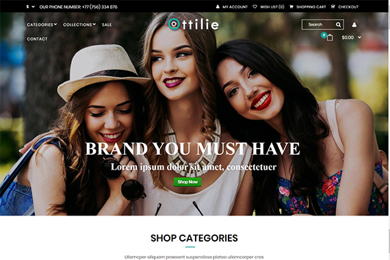 Ottilie Free Opencart Themes