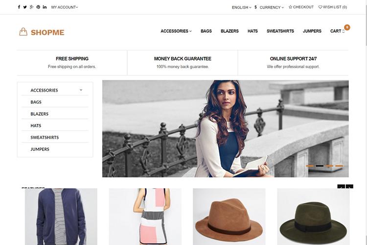 Shopme Free Opencart Themes