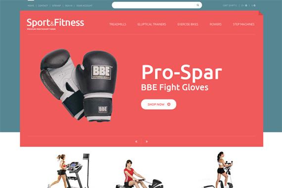 Sport Fitness Free Prestashop Template