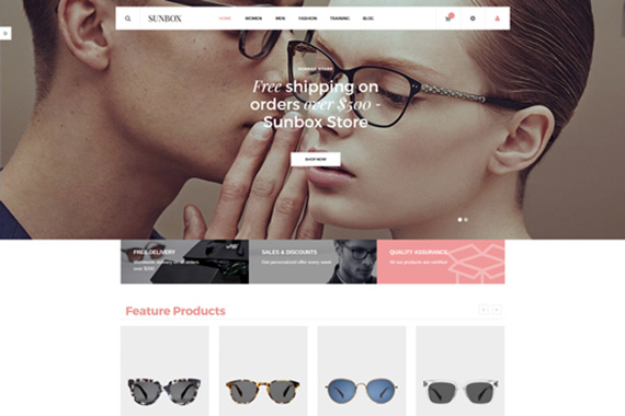 Sunbox free magento template