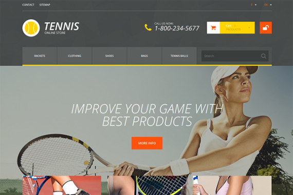 Tennis Free Prestashop Template