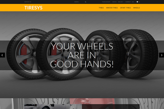 TireSys Free Prestashop Template