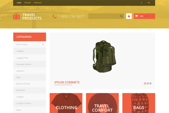 TravelProduct Free Prestashop Template