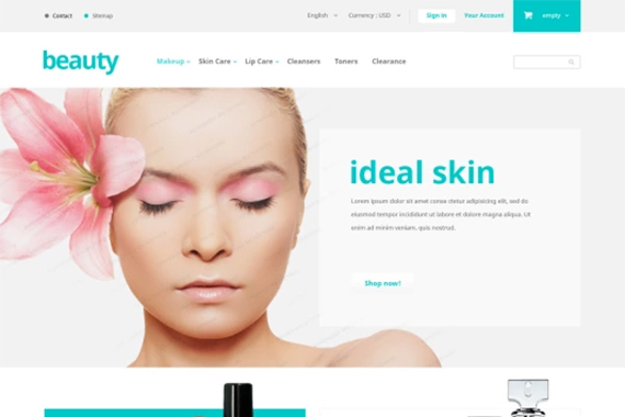 beauty free prestashop themes