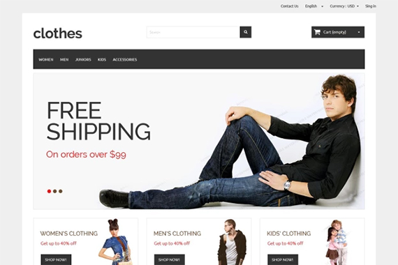 clothes free prestashop themes