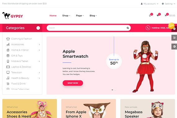 gypsy free prestashop theme