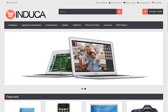 induca free opencart themes