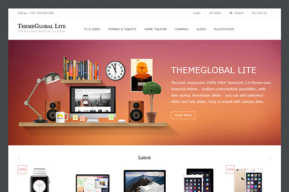 themeglobal free opencart themes