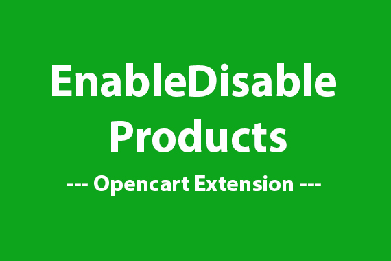 EnableDisable Products