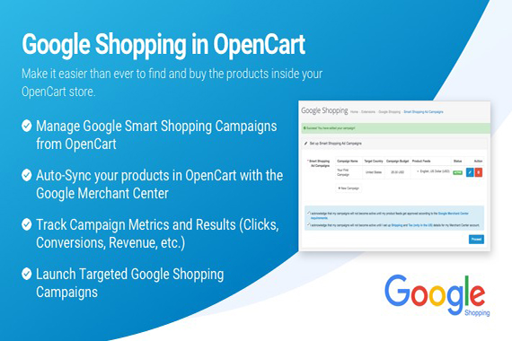Google Shopping for OpenCart