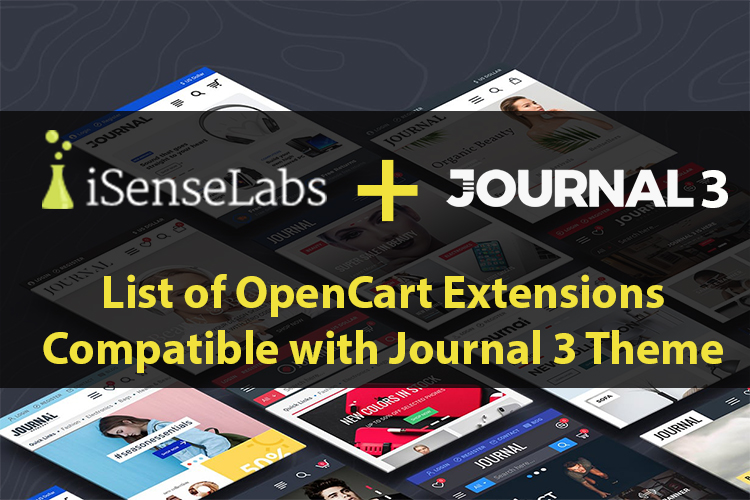 List of OpenCart Extensions Compatible with Journal 3 Theme