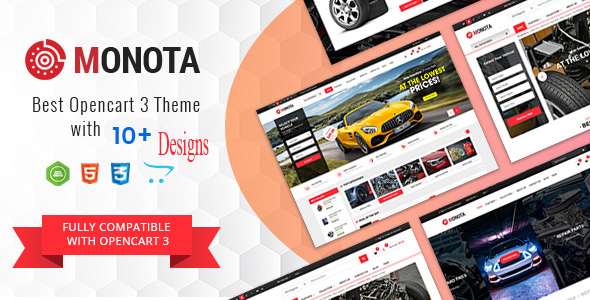 Monota - Auto Parts Tools Equipments and Accessories Store Opencart Theme