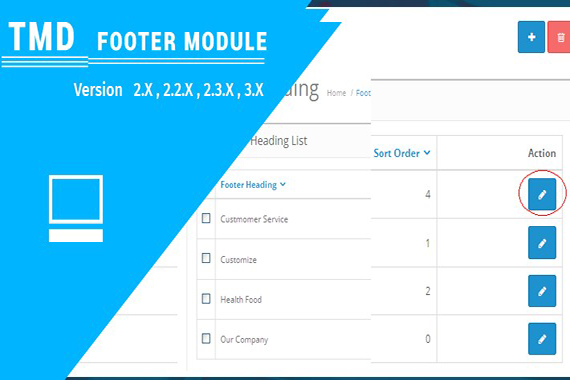 Custom Footer Menu Opencart Module