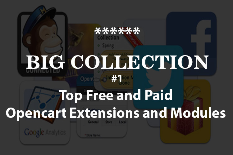 big collection free and paid opencart extensions and modules