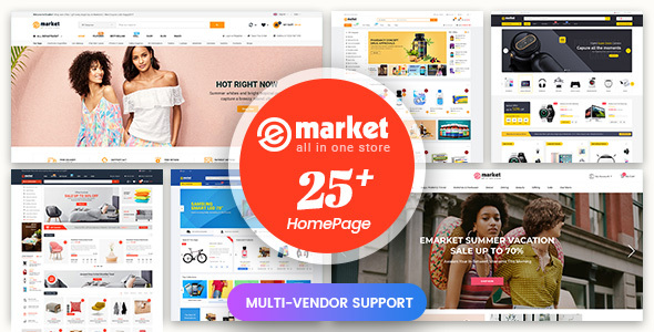 eMarket - Multi-purpose MarketPlace OpenCart 3 Theme